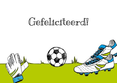 Verjaardagskaart voetbalschoen 3