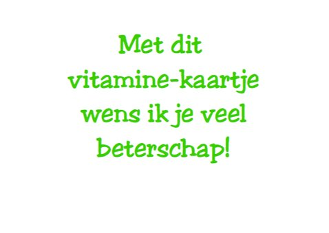 Vitamine-kaartje - beterschap 3