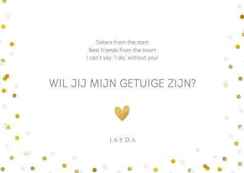 Vrolijke confetti kaart - wil je mijn getuige zijn?  3
