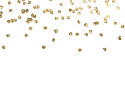 Vrolijke kerstkaart sneeuw kader confetti 2