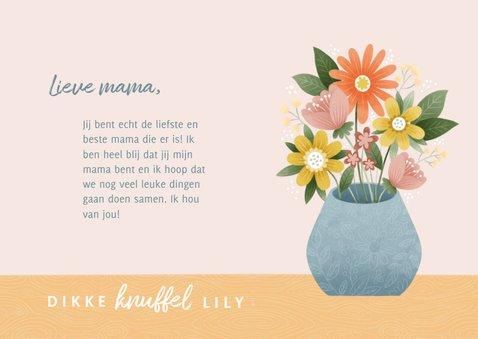 Vrolijke moederdag kaart met bosje bloemen en foto 3