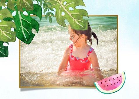 Vrolijke tropische vakantie ansichtkaart met eigen foto  2