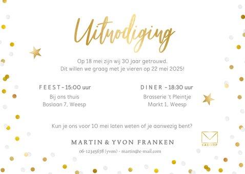 Vrolijke uitnodiging huwelijksjubileum met eigen foto 3