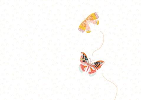Vrolijke vlinder verjaardagskaart 2