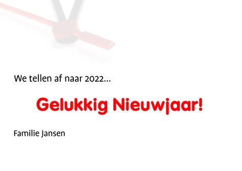 We tellen af naar Nieuwjaar 2022 3