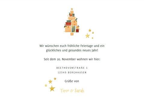 Weihnachts-Umzugskarte Happy New HO HO HOME 3
