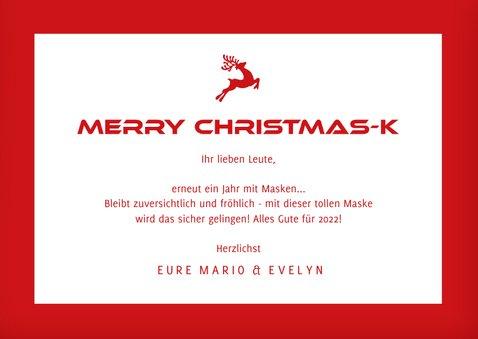Weihnachtskarte Bastle deine Weihnachtsmaske 3