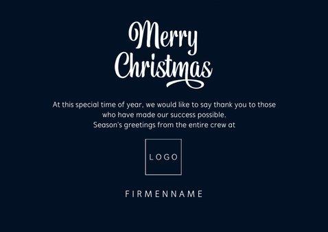 Weihnachtskarte Firma Wintermotiv klassisch 3