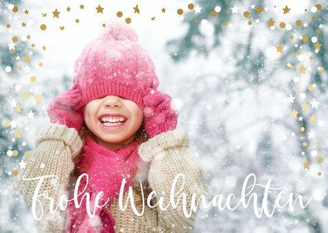 Weihnachtskarte Foto groß mit Konfettirahmen 2