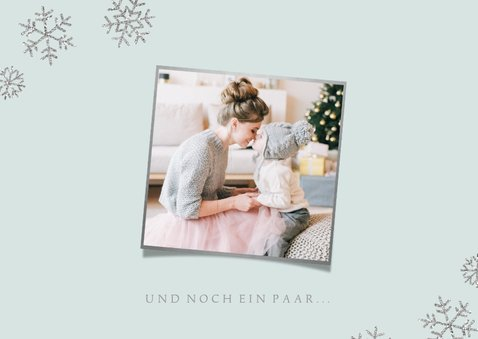 Weihnachtskarte Foto 'liebe Küsschen' blau 2