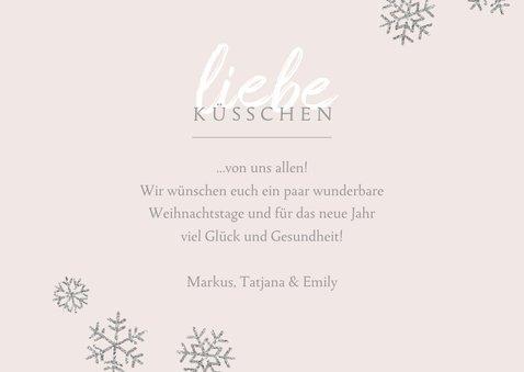 Weihnachtskarte Foto 'liebe Küsschen' rosa 3