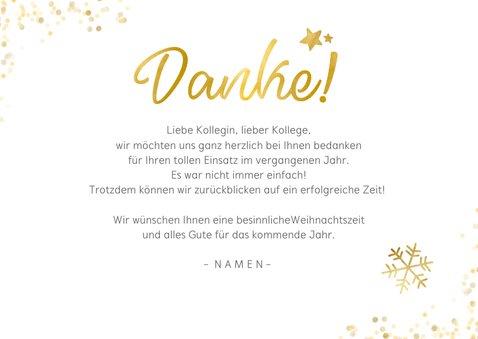 Weihnachtskarte Fotocollage Danke 3