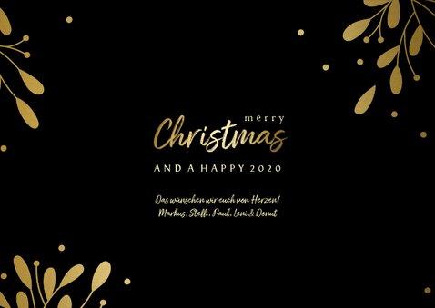 Weihnachtskarte Fotocollage & Goldakzente 3