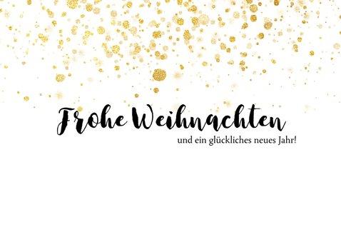 Weihnachtskarte Fotocollage & Goldtupfen 2
