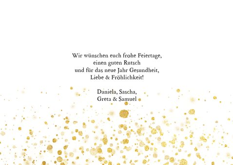 Weihnachtskarte Fotocollage & Goldtupfen 3
