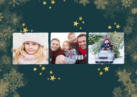 Weihnachtskarte Fotocollage 'Warm wishes' grün 2