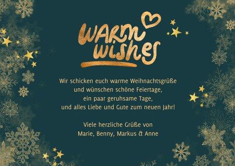 Weihnachtskarte Fotocollage 'Warm wishes' grün 3