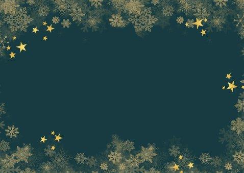Weihnachtskarte Fotocollage 'Warm wishes' grün Rückseite