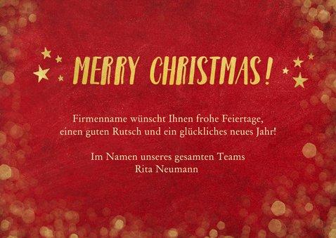 Weihnachtskarte für Firma Fotocollage Merry Christmas 3