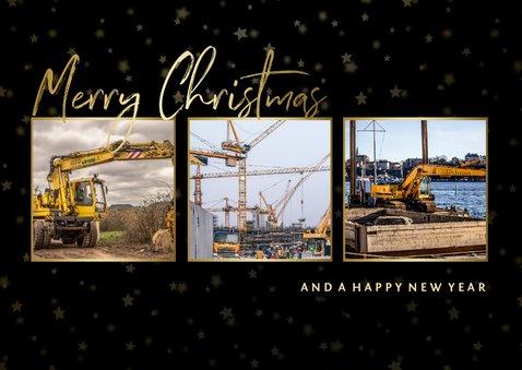 Weihnachtskarte geschäftlich Fotocollage Merry Christmas 2