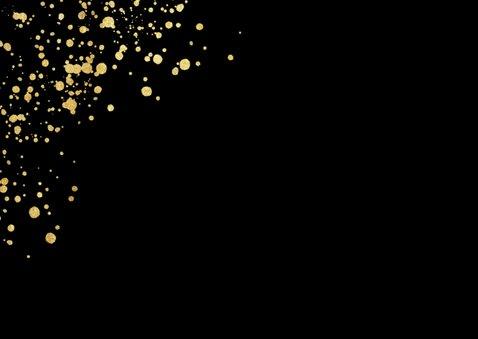 Weihnachtskarte geschäftlich goldene Spritzer Fotocollage 2