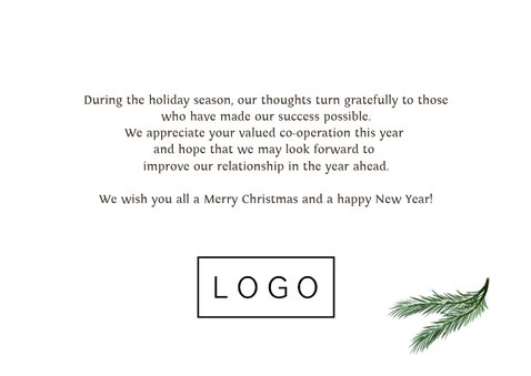 Weihnachtskarte geschäftlich Holzwand & Lichterkette 3