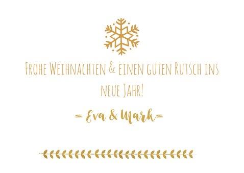Weihnachtskarte goldener Kranz mit Jahreszahl 3