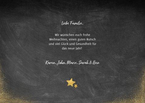 Weihnachtskarte im Holz- und Kreidelook mit Fotos 3