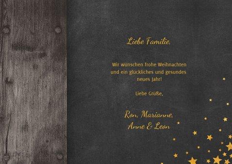 Weihnachtskarte im Holzlook mit Stern und 2 Fotos 3