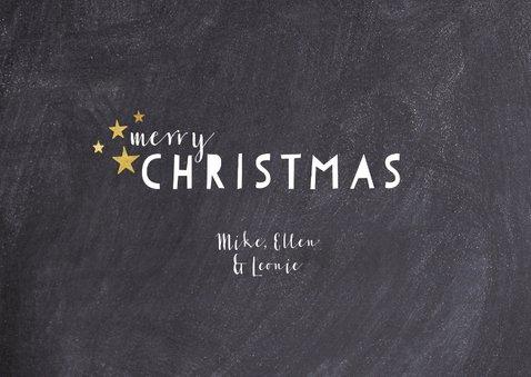 Weihnachtskarte in Schwarzweiß mit drei Fotos 3