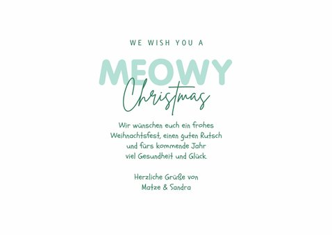 Weihnachtskarte Meowy Christmas 3