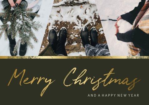 Weihnachtskarte 'Merry Christmas' mit einer Fotocollage  2
