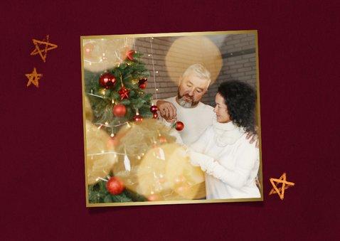 Weihnachtskarte mit Adventskranz klassisch 2