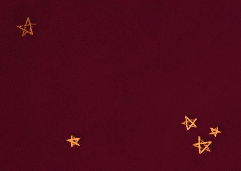Weihnachtskarte mit Adventskranz klassisch Rückseite