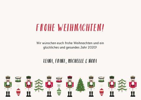 Weihnachtskarte mit Foto und Nussknacker Hintergrund 3