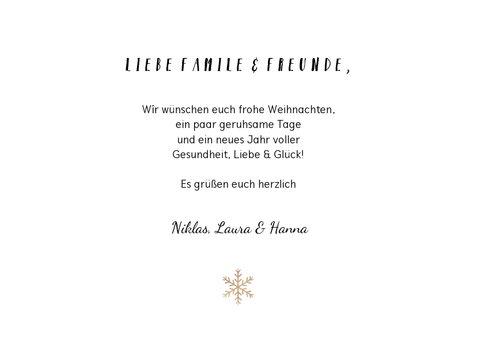 Weihnachtskarte mit Fotocollage und Handlettering 3