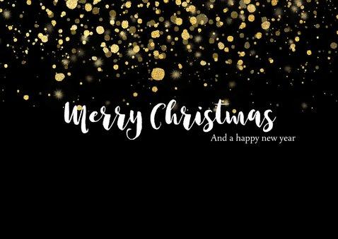 Weihnachtskarte mit Fotocollage und Tupfen in Goldlook 2