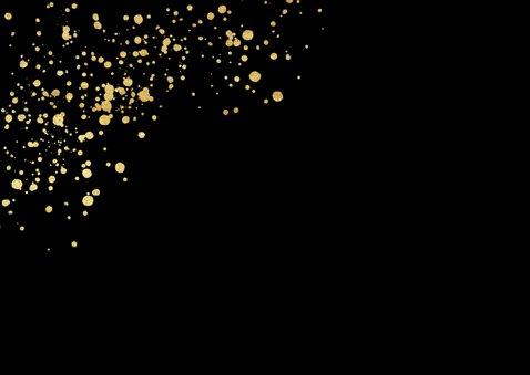 Weihnachtskarte mit Fotos auf Schwarz mit Gold-Konfetti  2