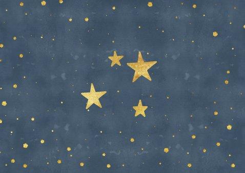 Weihnachtskarte mit Fotos dunkelblau mit Sternen 2