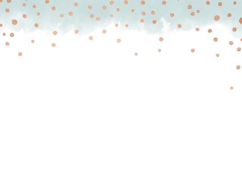 Weihnachtskarte mit Wasserfarbe und Goldkonfetti 2