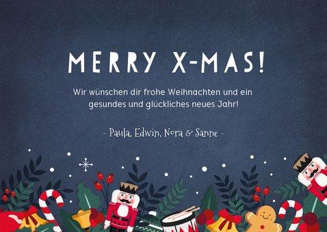 Weihnachtskarte mit weihnachtlichen Illustrationen 3