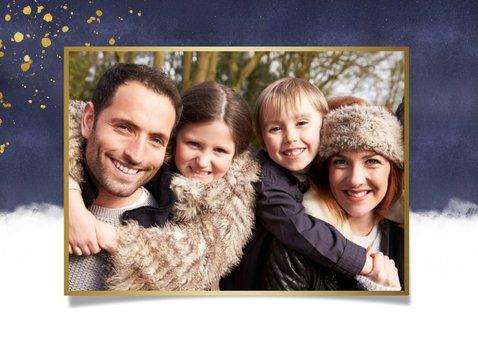 Weihnachtskarte 'Seid gedrückt' mit Fotos 2