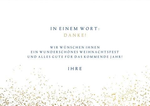 Weihnachtskarte 'Thank You' Goldoptik 3
