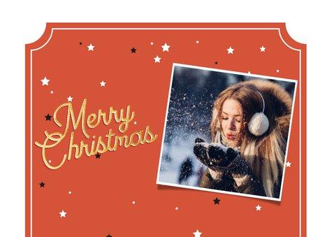 Weihnachtskarte Vintagelook Merry Christmas 2