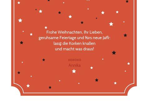 Weihnachtskarte Vintagelook Merry Christmas 3