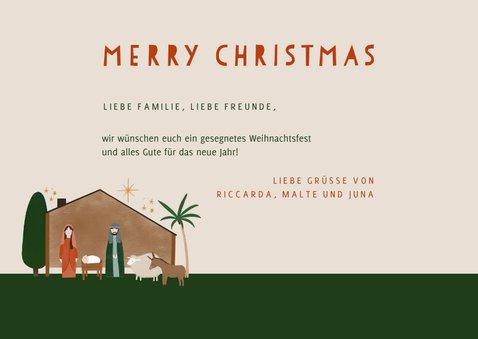 Weihnachtskarte Weihnachtskrippe Stall von Bethlehem 3