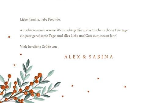 Weihnachtskarte Weihnachtszweige & Sternchen 3