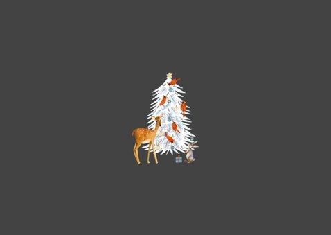 Winter wonderland dieren met kerstboom 2