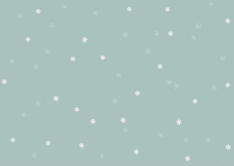 Winterliche Weihnachtskarte 6 Fotos und Sterne 2
