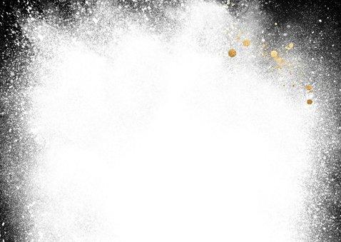 Winterse foto kerstkaart met sneeuw splash 2